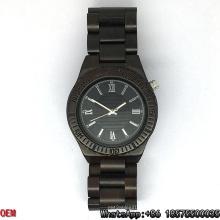 Top-Quality Ebony-Wooden Watches Quartz Watches