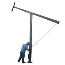 10m octagon tapered steel outdoor hinged folding light pole for sale