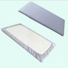 Folha sem redução da ucha do algodão orgânico, folha de cama do bebê, Chevron cinzento