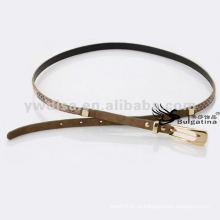 1cm moda skinny serpente cintos de couro mulheres couro serpente cintos BC4622G-3