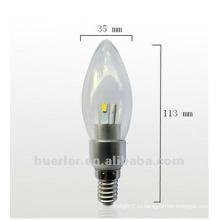 3W SMD 360 градусов луча угол светодиодные свечи / освещение