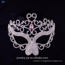 Оптовый хрустальный розовый маскарадный маска, маскарадный маскарад