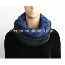 Knitted Snood with Braid