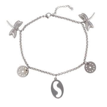 74299 xuping imitação de jóias pulseira de aço inoxidável charme para fazer jóias