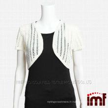 Chandail à châles en tricot tricoté à la main en cachemire