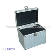 silver 100 CD disks aluminum CD case wholesales from China manufacturer