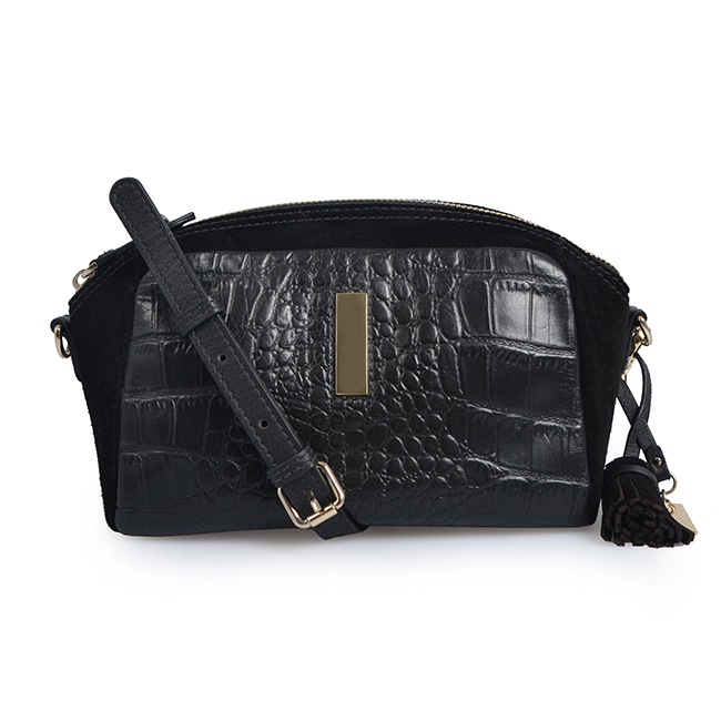 Shoulder bag mini handbag adjustable messenger crocodile bag