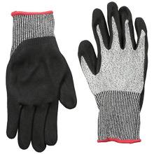 General Purpose Palm Dipped Black Sandy Nitrile Cut Resistant Gloves