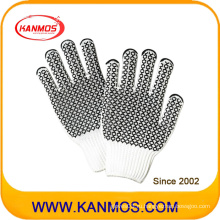 Трикотажные рабочие перчатки из хлопка с защитой от скольжения (61007TC)