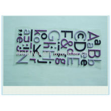 letter puffy sticker for decoration