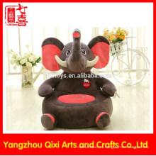 EN71 aprobación silla de niños en forma de elefante rellena silla de sofá de animales de peluche animal silla de peluche suave para niños