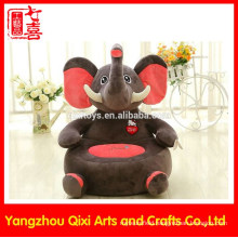 EN71 approval stuffed elephant shaped kids chair plush baby animal sofa chair soft stuffed animal chairs for kids
