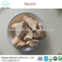 Diferente venta de mineral de bauxita grado 60-88% Al2O3 calcinado precio de la bauxita