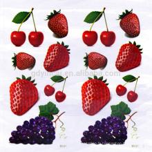 Forme de raisin de fraise de cerise imperméabilisent l'autocollant temporaire de tatouage de 3D avec le style mignon