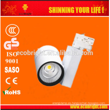 3 años garantía alto CRI regulable 10w/30w/50w led luz de track