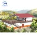 Villa de estructura de acero ligera prefabricada de lujo de la casa hermosa moderna