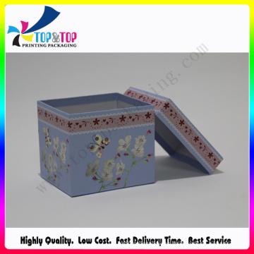 Caja de embalaje de regalo de papel colorido para Navidad
