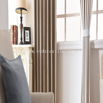 Slub effect and brief window curtain fabric