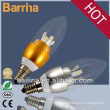 lâmpadas de 2013 super brilhante levado vela E14