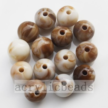 8&16MM Shell color texture round beads acrylic loose beasd