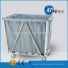 HM-22 stainless steel frame linen carts with Oxford bag