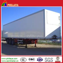 30-50 Tons Tri-Axle Container Semi Trailer Box Dry Van Truck