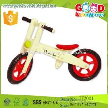 ET2001 Nature wood color red mat balance toys wooden bike