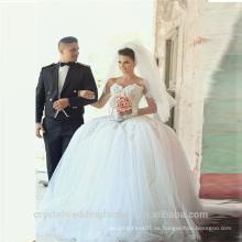 2015 Alibaba último vestido diseños al por mayor elegante encaje vestido de novia vestidos de boda con volantes en Dubai LW10