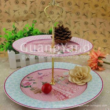 Блестящие фарфоровые эмалированные обеденные тарелки с обслуживанием