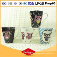 275ml New Bone China Conical Mug, caneca de café cerâmica