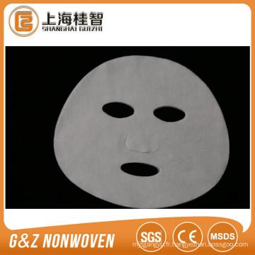 Fourniture de masque facial en tissu non tissé en soie de tissu de masque de visage de Cupro