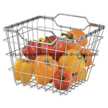 Stahldraht Obst Gemüse Lagerung Körbe