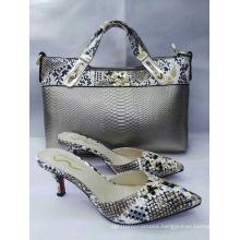 Women Snake Texture Bags and Slippers (G-22)