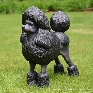 бронзовый пудель собака статуя