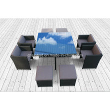 Wicker Furniture Dining Set for Outdoor with 4 Seater (8219s KD)