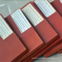 Precio de fábrica 10 mm SBR goma rojo hoja de goma Pad