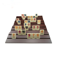 Estuche de madera para mini juegos de mesa de azulejos de melamina Rummy