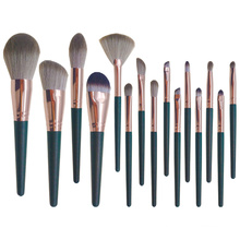 Private label custom professional kit luxury black wholesale synthetic other buy rose gold high quality vegan makeup brush set