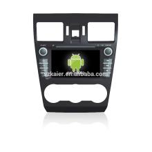 Quad core! Dvd del coche con espejo enlace / DVR / TPMS / OBD2 para 7 pulgadas de pantalla táctil de cuatro núcleos 4.4 sistema Android Forester 2014