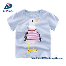 Camiseta 100% algodón color sólido para niños