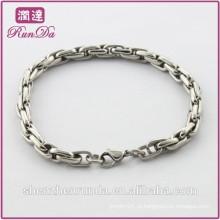 Alibaba venda quente simples pulseiras de aço inoxidável
