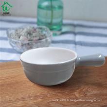 Assiette de porcelaine à base de céramique