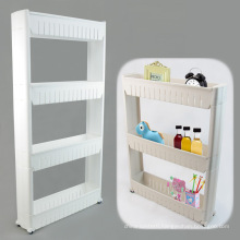 3366Kitchen Crevice Plastic Storage Rack With Wheels Free assembly box