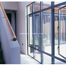 Matt Fertig Grau Powder Coat Doppelglas Aluminium Türen und Fenster