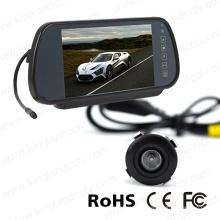 Système de moniteur de miroir à vue arrière de 7 pouces avec caméra de voiture Mini Bumper
