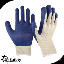 SRSAFETY 10G Latex coated gloves/Safety Glove/working gloves,construction smooth latex gloves factory
