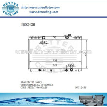 Radiator For TOYOTA CAMRY 02-04 Aluminum 164000H130/164000H131 Manufacturer and Direct Sale