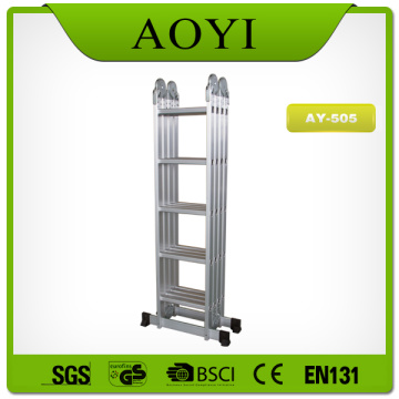 Aluminum material folding ladder