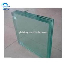 6 + 6 paneles de valla de vidrio templado laminado de 12 mm con borde pulido