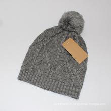 Bonnet unisexe en tricot avec impression de diamants en hiver (HW148)